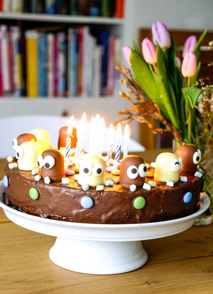 Schokoladenkuchen | #Geburtstagstorte: Marmorkuchen mit Schokoladenküssen und …   – Kindergeburtstag essen