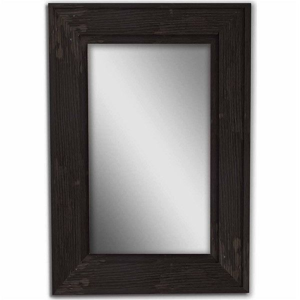 Black Bone Wood Mirror (6 420 UAH) ❤ liked on Polyvore featuring home, home decor, mirrors, ivory mirror, cream mirror, antique white mirror, wooden home decor and wooden mirror