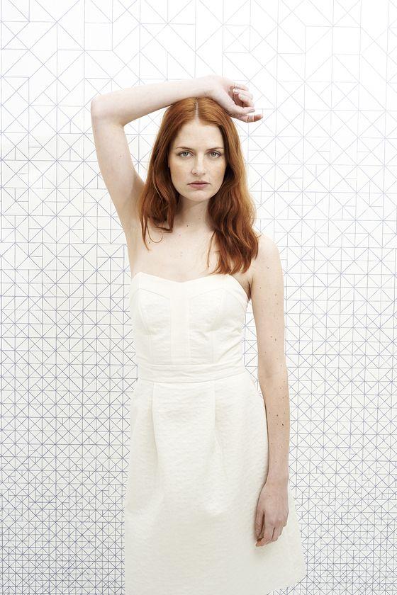 vanina escoubet robe  Bustier June Crème mariage blanc crème retro white wedding
