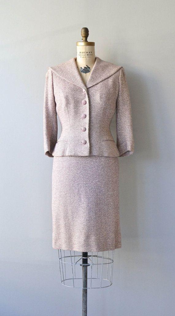 Wisteria Villosa suit vintage 1950s suit fitted by DearGolden