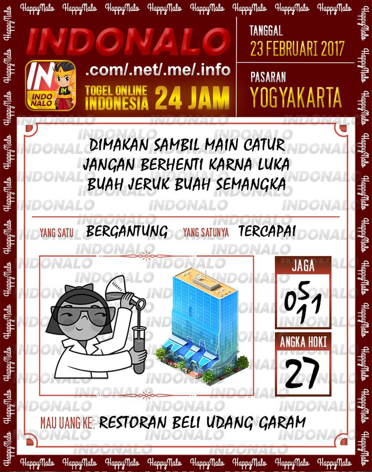 Taysen Pools 3D Togel Wap Online Live Draw 4D Indonalo Yogyakarta 23 Februari 2017