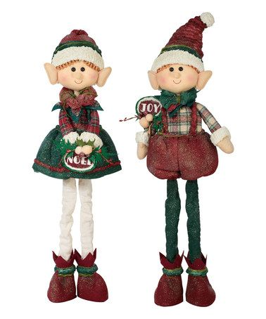 This Plush Standing Elf Décor - Set of Two is perfect! #zulilyfinds