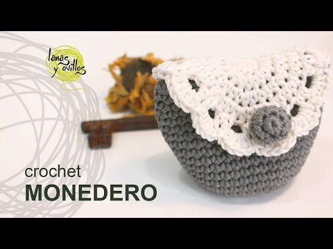 Delicadezas en crochet Gabriela: Tutorial paso a paso Monedero incluye dos versiones