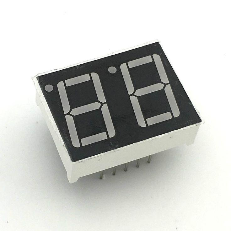 "D153 10pcs 7 segment common Cathode 2 Bit digital Tube 0.56"" 0.56in. Red LED Display 7 segmentos LED Digital tube #Affiliate"