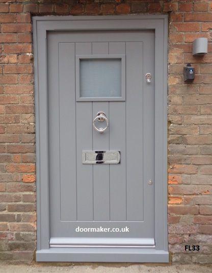 cottage style framed ledged door grey