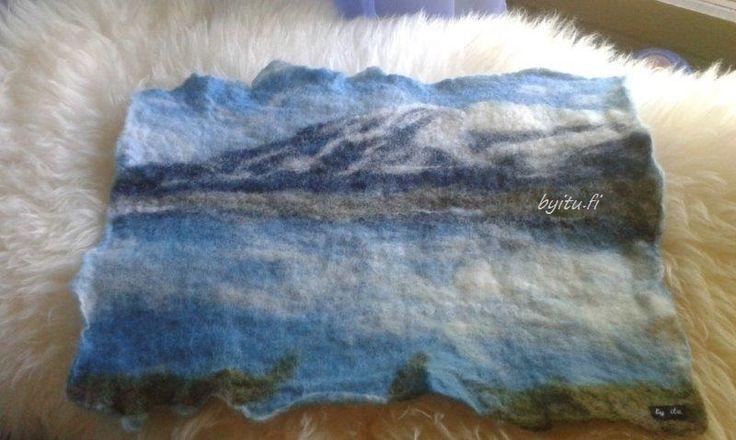 by itu - Käsin huovutettu asiakkaan kuvasta Pohjois-Norja Lofootit 07-2015 Hanmade felt