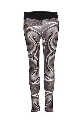 X-Large, Wave Grey, Cheeki. Ly Athletics Womens Manhatten Leggings, Womens, Manh