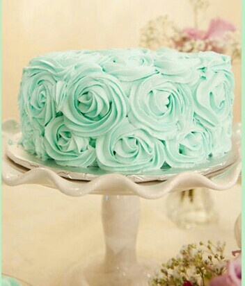 Minty colored frosting