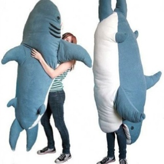 shark pillow sleeping bag hide n seek idea