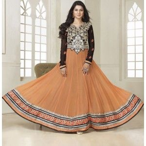 Latest Designer Pitch Embroidered Anarkali Suit With Ankle Length