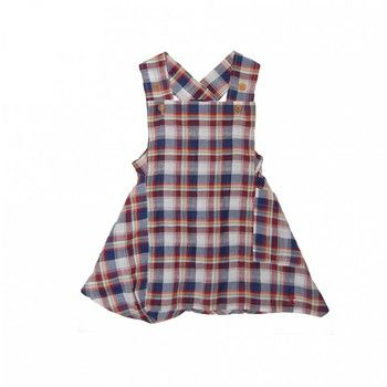 Girl's McKenzie Check Pinafore   Jessie and James   Sprogs Inc