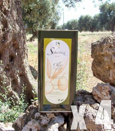 Latta 5 Litri di Olio Extravergine di Oliva Santa Lucia - Blend di cultivar salentine  Prezzo per 4 pezzi $130.00