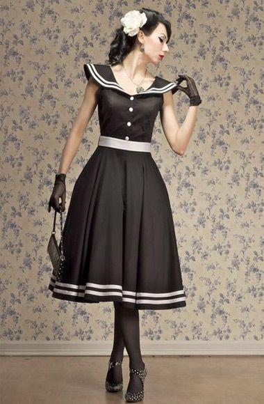 Retro tarzı elbise modelleri