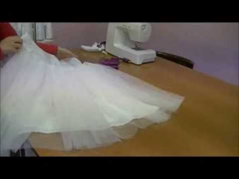 SOTTO GONNA IN TULLE PER ABITO DA BAMBINA. - YouTube