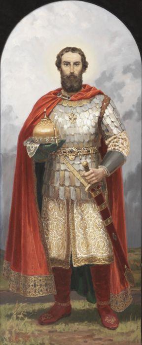 Св. князь Димитрий Донской картина графика иллюстрация рисунок акварель история репродукция репродукции