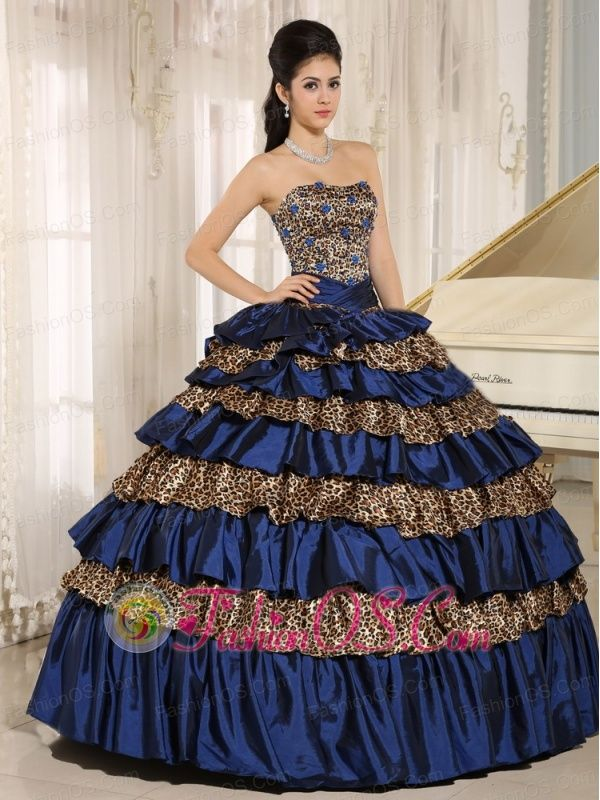 97443dda2c I don t like the dress but I like the way the blue looks with the animal  print
