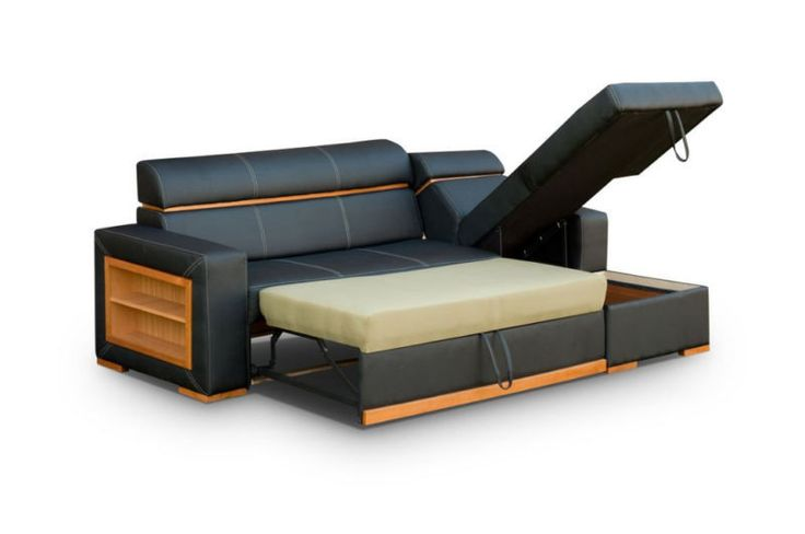 Cheap Corner -Faux  LEATHER CORNER SOFA BED - Becky - Difrent Colours - same