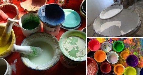 Pintura casera con papa, aceite, patata, leche o cal para realizar tú mismo. Para decorar muros, muebles o cualquier tipo de objeto. lee más en La Bioguía.