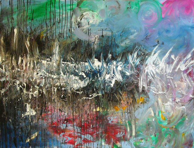 Here comes the Flood Oil on canvas, 120 x 140, October 2011 Created by Philippe Laferriere