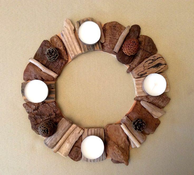 Couronne en bois flotté par l'Atelier de Corinne : Accessoires de maison par atelier-de-corinne