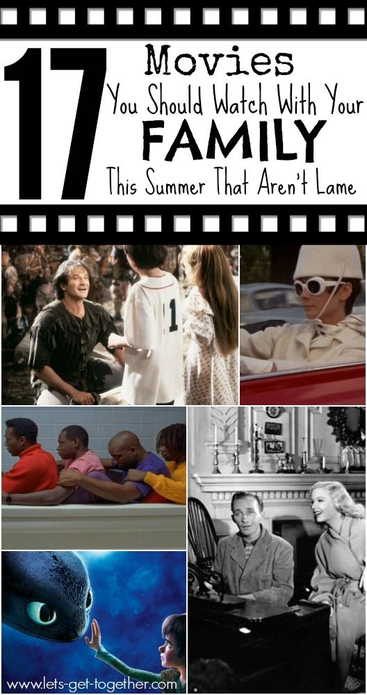 17 Movies You Should Watch With Your Family This Summer That Aren't Lame from Let's Get Together - a great list of movies for summer movie nights out on the lawn! Totally family-friendly with some oldies but goodies! www.lets-get-together.com #movies #summerfun
