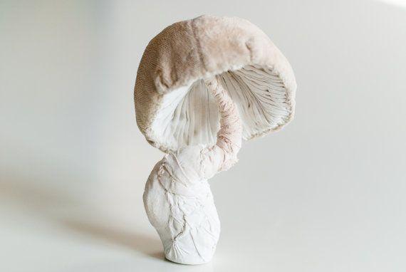 white mushroom fiberart soft sculpture von mysouldesign auf Etsy