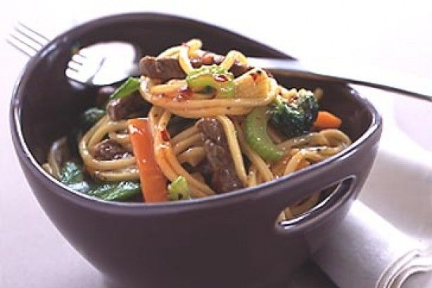 Sweet chilli beef noodles main image