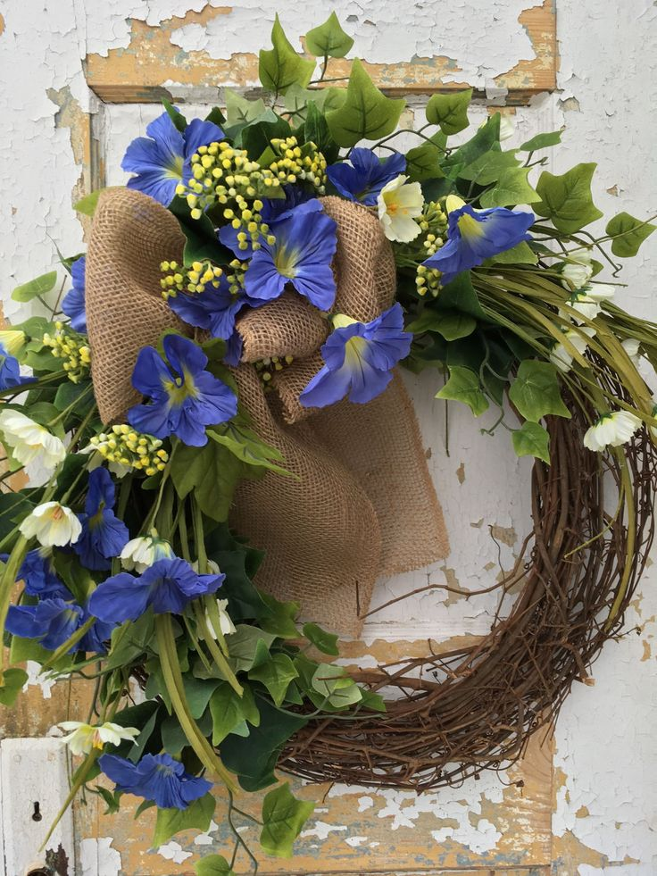 Spring Wreath, Spring Door Wreath, Summer Wreath, Spring Decor by FlowerPowerOhio on Etsy