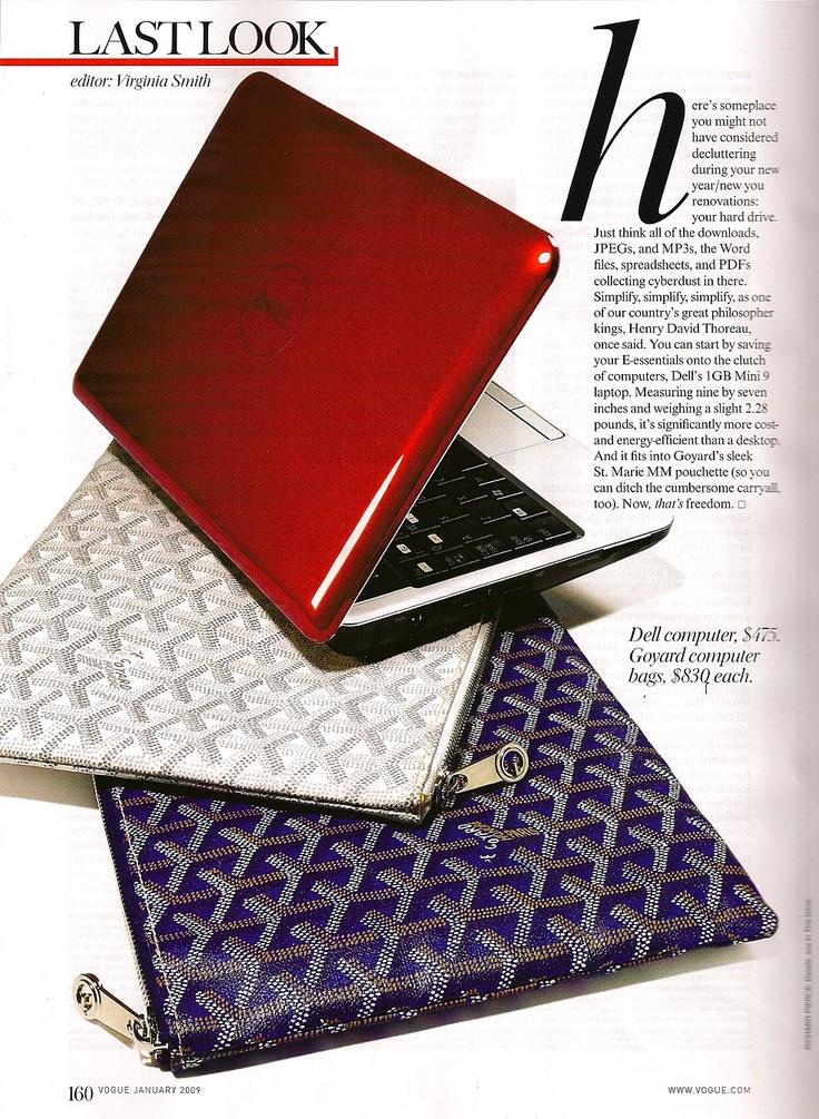 "goyard laptop 9"" bag ""DELL & GOYARD"" ....a peace of heaven on earth"