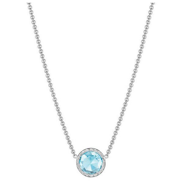 Tacori Island Rains Sky Blue Topaz Pendant Necklace ($330) ❤ liked on Polyvore featuring jewelry, necklaces, multi color jewelry, tacori necklace, multicolor necklace, multi colored jewelry and multi colored necklace