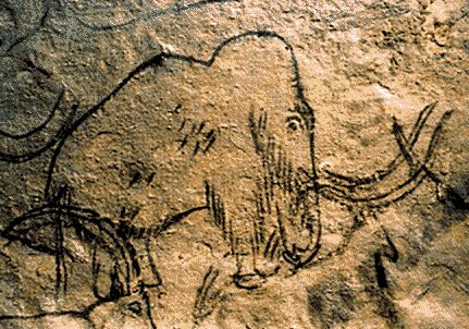 The cave of Rouffignac in France contains ice age art, including paintings and etchings of animals such as the mammoth, woolly rhino and cave bear.