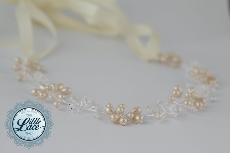 Little Lace Pearl Hair Piece with mixed metals and pearls
