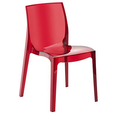 Becca Chaise rouge transparente