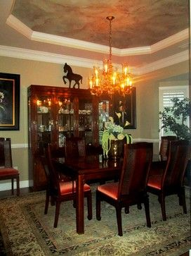 Dining Room With Trey Ceiling Design Ideas, Pictures, Remodel and Decor