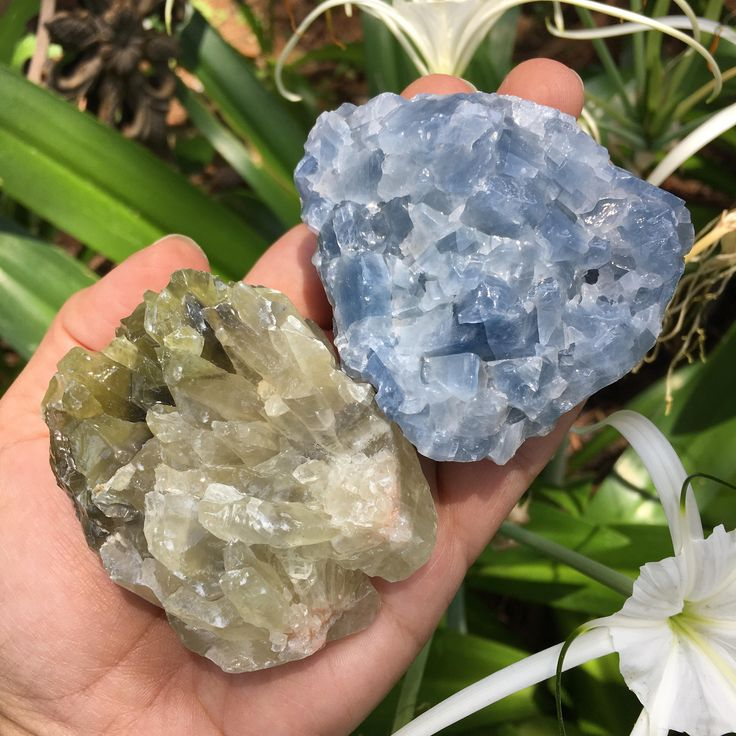 Calcite Set/ Blue Calcite/ Green Calcite by TheSacredCrystal on Etsy