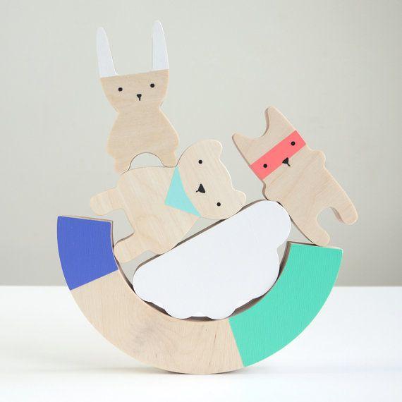 Wood Balancing Game by desEnfantillages on Etsy