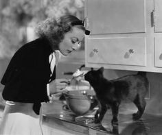 Black cat with Joan Crawford