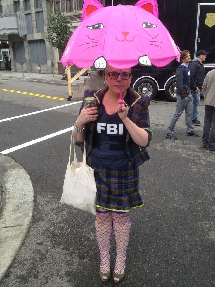 "Kirsten Vangsness as Penelope Garcia on the set of ""Criminal Minds"""
