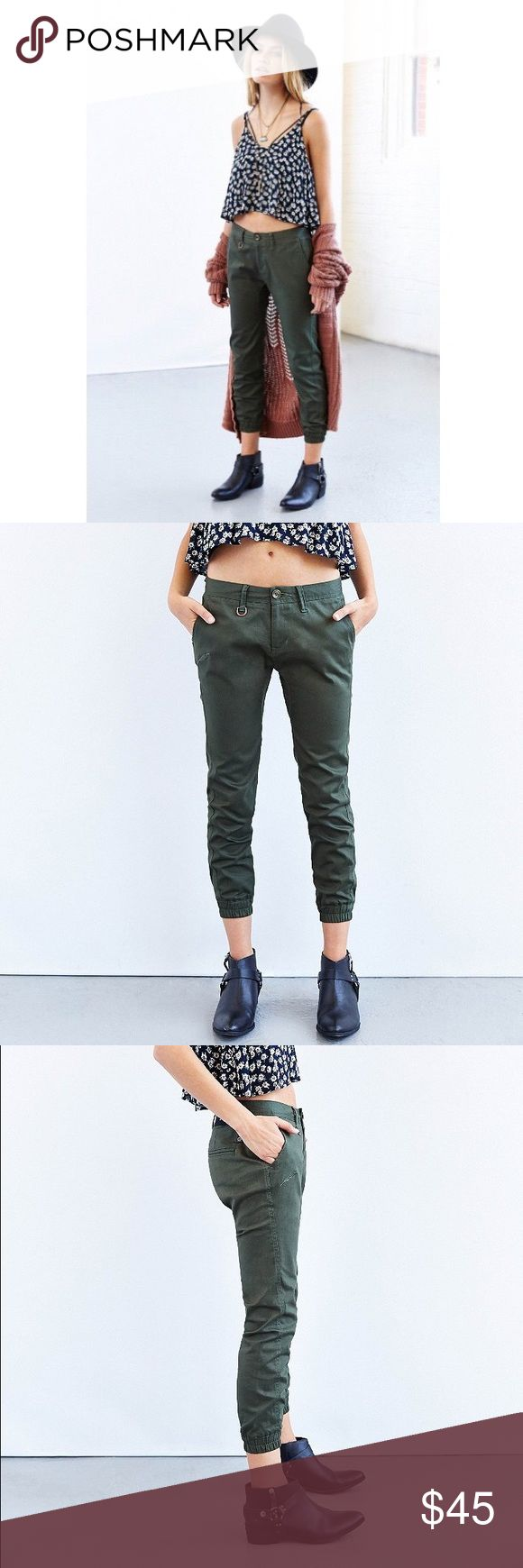 Publish Army Green Hanna Joggers In perfect condition only worn 2-3 times, these Publish Joggers are super hip and comfy. They have awesome utility in the design with pockets, draw string waist, and are cropped at the ankle. No trades or pp. Offers, bundles, and negotiations are welcome! Publish Pants Track Pants & Joggers