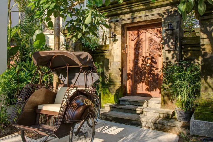 Bali Hotel Photography - Sofitel Nusa Dua - villa entrance late afternoon sun and shadows