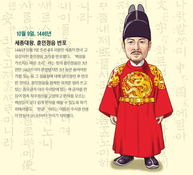 [오늘의 역사] 세종대왕, 훈민정음 반포