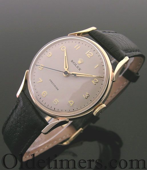 A 9ct gold round vintage Rolex Precision Watch, 1956