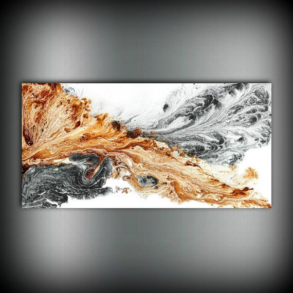 Giclee Print of Original Abstract Painting Bold Art Abstract Made To Order Large Fine Art Print Copper Gift for Men and Gift for Women