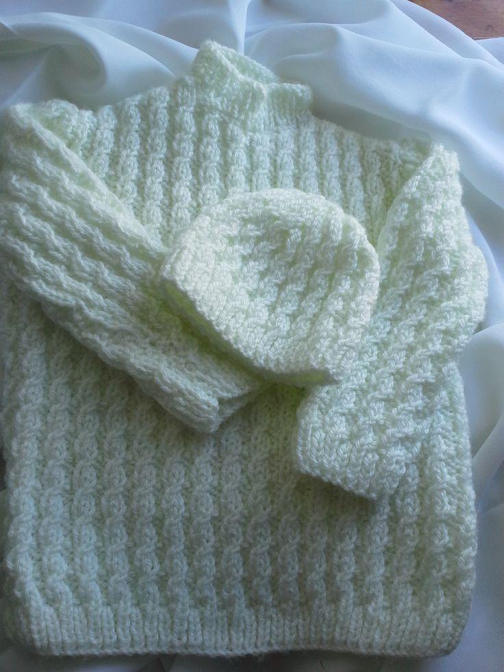 hand knit pastel baby jumper and beanie   https://www.etsy.com/au/shop/EVLovelyExpressions?ref=hdr_shop_menu