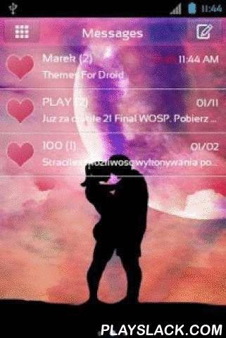 Valentine Day Theme For GO SMS  Android App - playslack.com ,  GO SMS met Valentijnsdag thema. Dag van de liefde is binnenkort beschikbaar. Downloaden naar de telefoon applicatie om SMS berichten te versturen in Valentines graphics. Lovers knuffelen op de achtergrond is een romantisch, een moment waarop je voelde bij wijze van uitzondering de kleuren roze en rood het is Valentijnsdag. Tekst chatvenster is roze. Aanvraag voor liefde tekstberichten gewaad is voor iedereen die heeft gevonden en…