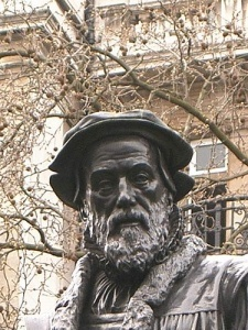 William Tyndale- Leading figure in Protestant reformism who was first to translate considerable parts of the Bible into English, for a public, lay readership, and was hanged and burned at the stake for it.