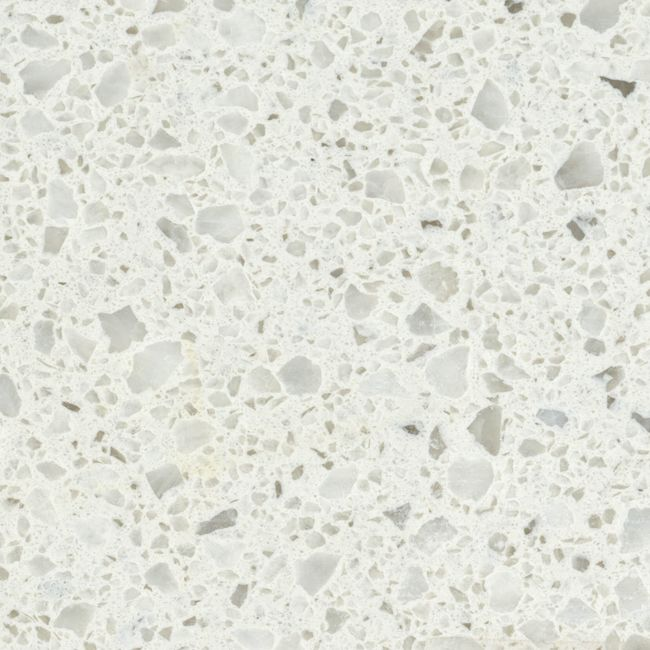 Colour: Aspen Terra White Finish: Polished White with medium sized grains in various shades of grey. #Profiletile