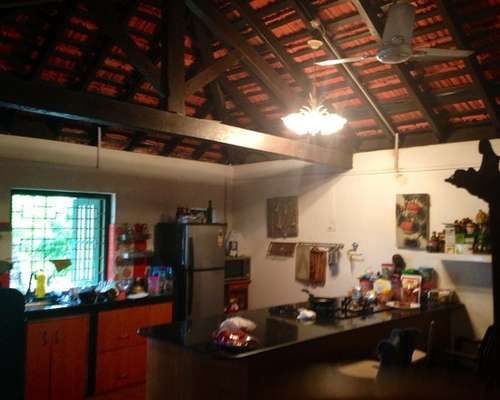 Traditional Indian Kitchen With Granite Cooktop Kerala