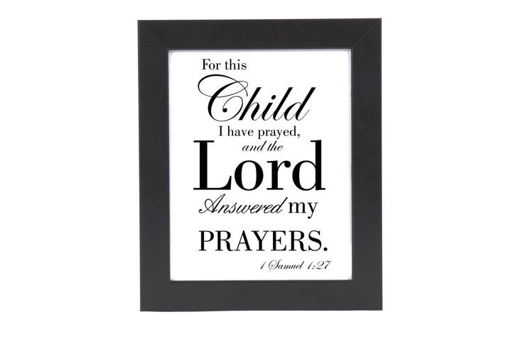 Scripture about children on fine art, gift for new mother, Bible verse art for nursery: 1 Samuel 1:27 Looking for unique bible verse art prints for the nursery? Need a baby shower gift that's more per