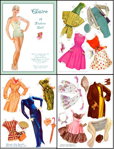 fashions for claire...a gorgeous paper doll of the 1950s
